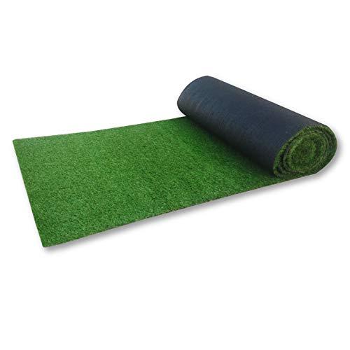 人工芝ロール 1m × 10m 芝丈30mm 固定ピン 22本付 透水タイプ マット 人工 芝 ベランダ 庭(グッドライフウッド)