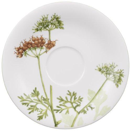 Villeroy & Boch Althea Nova Untertasse, 16 cm, Premium Porzellan, Weiß/Grün