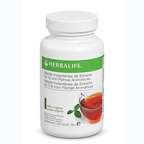 Bebida Instantánea a base de extracto de Té Herbalife con té negro, verde, flor de malva, flor de hibisco y semilla de cardamomo.… (Té Original 100g)