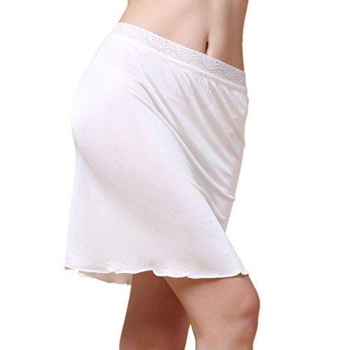 Paradise Silk Sottoveste in seta pura filata, 48,3cm, sottogonna White Medium