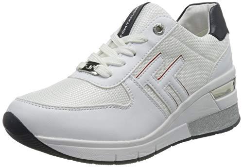 TOM TAILOR Damen 3293806 Sneaker, White, 40 EU