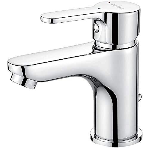 GRIFEMA PORTO-G11003 | Badarmatur - Bad Wasserhahn, G3/8'' Anschlüsse | Einhand-Waschtischbatterie, Komfort-Höhe (75 mm), Messing/Chrom