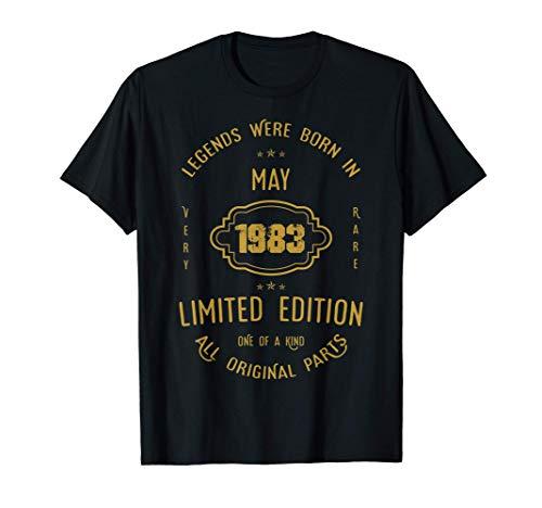 38 años de cumpleaños - Las leyendas nacen en mayo de 1983 Camiseta