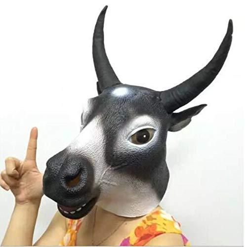 XIANGYANG Máscara de Cabeza de Toro de látex de Halloween, máscara de Toro de Agua de látex máscaras faciales de Animales para Cosplay de Halloween para Bar