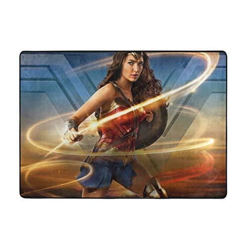 KANKANHAHA Super Hero Wonder Woman - Felpudo antideslizante