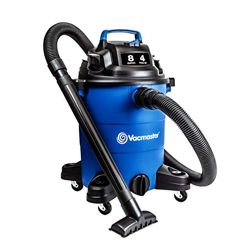 Vacmaster Wet Dry Vacuum Cleaner Lightweight Powerful Suction Shop Vacs with Blower Function for Dog Hair,Garage,Car,Home & Workshop (4 Peak HP 8 Gallon, Blue)