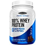 MuscleTech Prime Series 100% Whey Protein Powder, 25g Premium Protein, Research Proven Whey & Peptides for Faster Absorption, Chocolate, 26 Servings (2.0lbs)