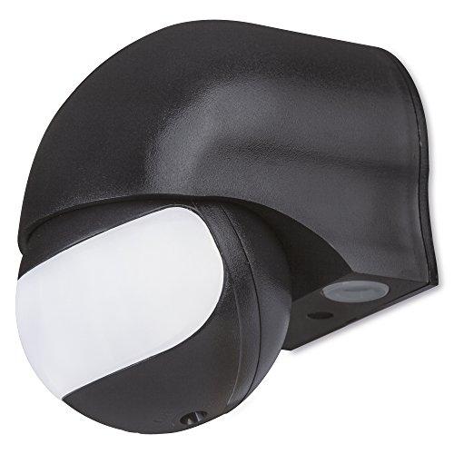 sonero IMS011 Infrarot-Bewegungsmelder - Innen- / Auߟenmontage, Schutzklasse: IP44, 180° / 12m Arbeitsfeld, schwarz (1 Stück)