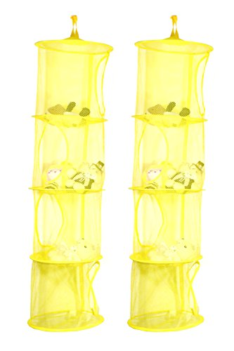 2 Cestas de ropa organizativas amarillas