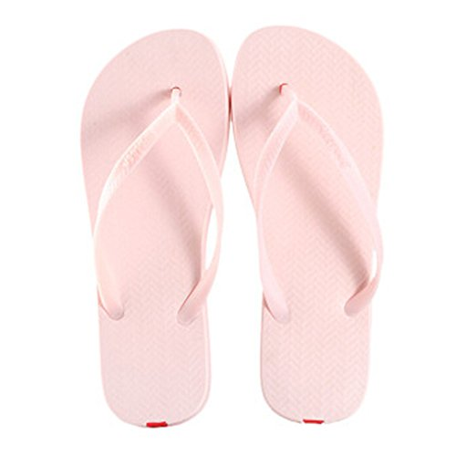 Casual Tongs Unisexe Plage Chaussons Anti-Slip Maison Slipper Rose clair