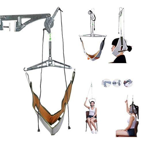 SEESEE.U Cervical Traction Device, Cervical Traction Kit über der Tür Neck Traction Device Neck Stretcher für Nackenschmerzen Linderung einstellbar