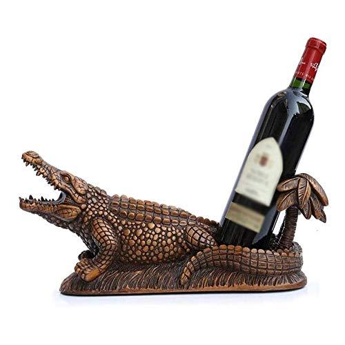 ZHUANYIYI Estante de Vino, Forma de Animales Decoración de Estante de Vino Personalidad Cocina Cocina Restaurante Resin Rack de Vino, para Uso en casa y Bar.