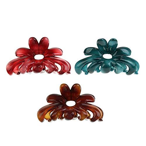 SM SunniMix 3pcs Large Candy Color Acryl Haarklauen Clips Clamps Haarschmuck
