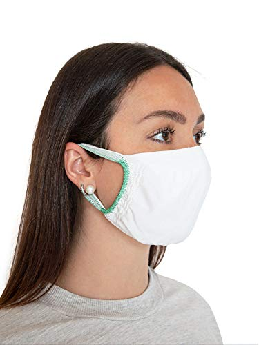 Relaxsan - SET 5 Fasce filtranti viso bocca naso lavabili riutilizzabili assorbenti tessuto batteriostatico