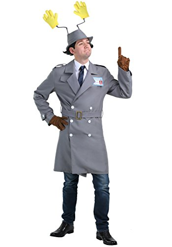 Inspector Gadget Men's Police Officer Movie Costume Medium Gray