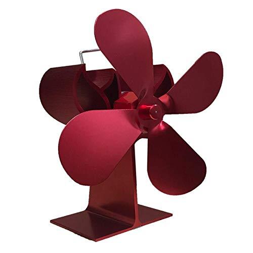 Kaminlüfter 4-Blatt-Kaminventilator Eco Leiser Winter-Wärmekraftventilator Holzofen-Ventilator Für Holz/Holzofen/Kamin