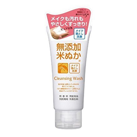 Rosette Cleansing Wash Additive Free Rice Bran Facial Washing Foam 120g