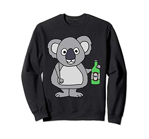 Smileteesall lustiges trinkendes Bier des Koala-Bären Sweatshirt