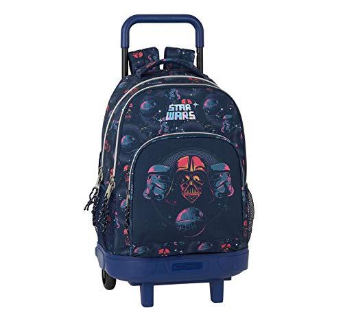 Mochila Safta Escolar con Carro Incluido y Espalada Acolchada de Star Wars, Death Star