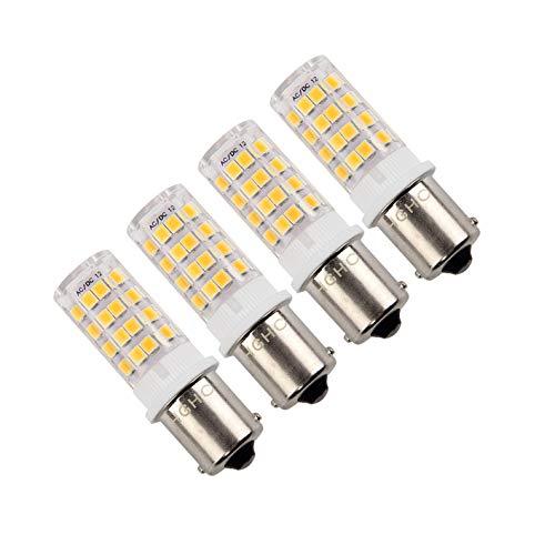 Ba15s LED Bombilla 5W AC/DC 10-18V Blanco cálido 3000K 500Lumen, 1156 1141 LED Bombilla, para Iluminación Interior de Vehículos, Remolque, Barco etc. (4 piezas)