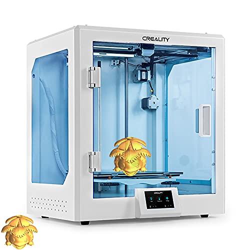 YILUFA Impresora 3D Creealidad CR-5 Pro One Pieza Transparente Transparente Estructura De Impresión Empresa Silent Madre Tablero Metal Alimentador Extrusora 300x225x380mm