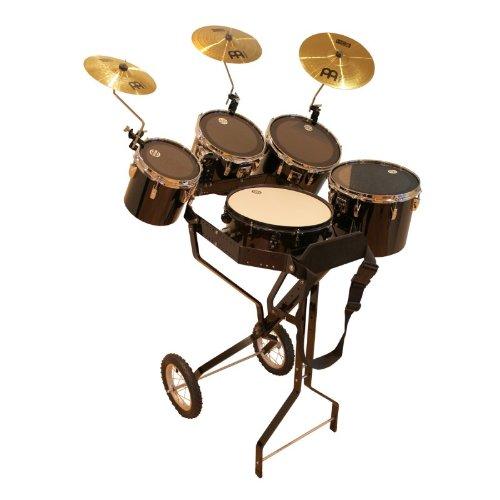 Schlagzeugwagen mit Snare, 4 Toms, Hi-Hat Rosette, 3 Becken