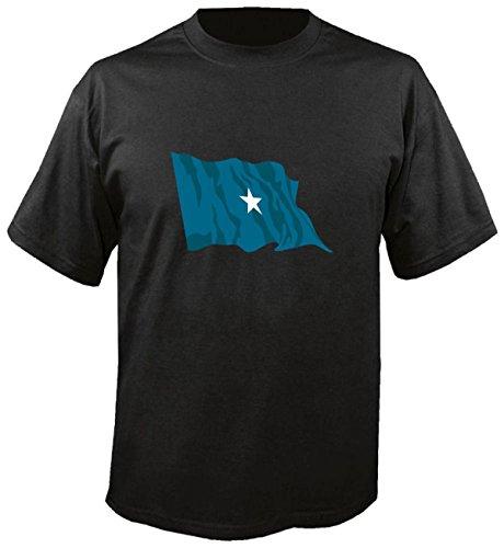 T-Shirt für Fußball LS159 Ländershirt XL Mehrfarbig Somalia - Somalia mit Fahne/Flagge - Fanshirt - Fasching - Geschenk - Fasching - Sportshirt freie Farbwahl