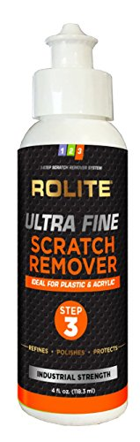 Ultra Fine Scratch Remover for Plastic & Acrylic Surfaces Including Marine Strataglass & Eisenglass, Headlights, Aquariums