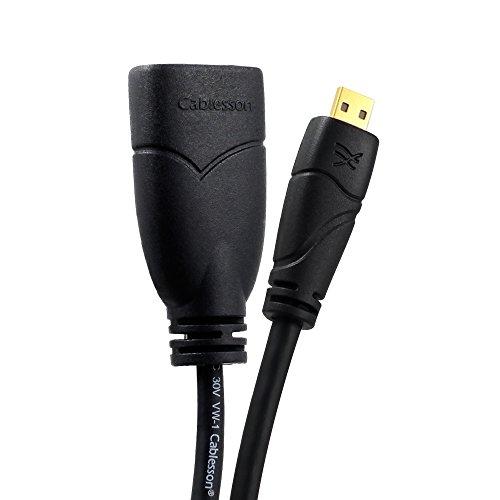 Cablesson Ivuna Micro HDMI 0.2m Verlängerungskabel - v1.4/2.0 - Audio und Video - Verbindet HD-Geräte mit dem Micro HDMI Anschluss an den PC oder Fernseher- Vergoldete Stecker 3D Full HD 1080p 4k