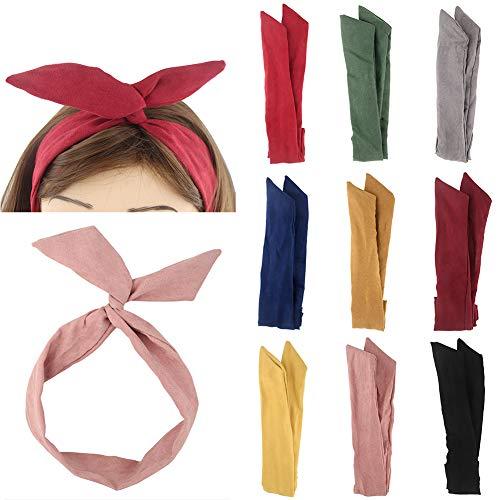 Yeshan FDDK182-3 Yeshan Wist - Diadema de alambre para mujeres y niñas, , ,  Nº 3 (mezclado 9 piezas), 9 uds. por paquete, ]