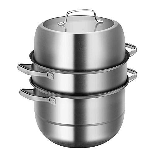 Cuiseur vapeur 3 couches, une façon saine de cuisiner des légumes - Poignée en acier robuste - 26 cm, 28 cm, 30 cm, marmite 30CM couleur