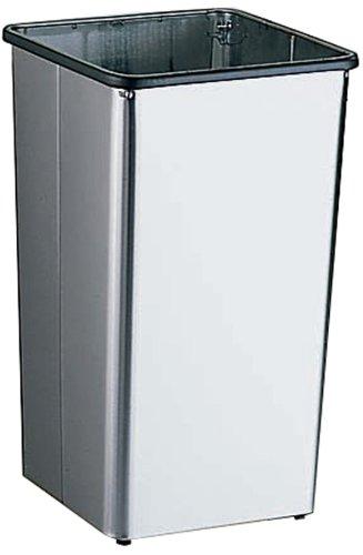 Bobrick 2280 en acier inoxydable magasins Réceptacle de déchets avec Open Top, fini satiné, 21 Gallon Contenance, 35,6 cm Largeur x 76,2 cm Hauteur