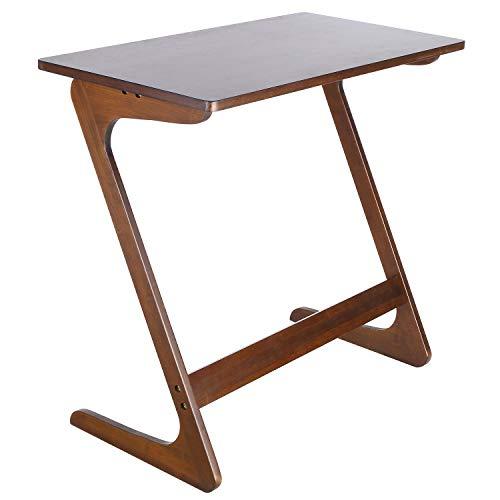 Homfa Mesa para sofá Mesa Auxiliar Mesa de bambú para Ordenador Mesa de café Mesa de Escritorio Mesa para Ordenador Color castaña 75x40x70cm