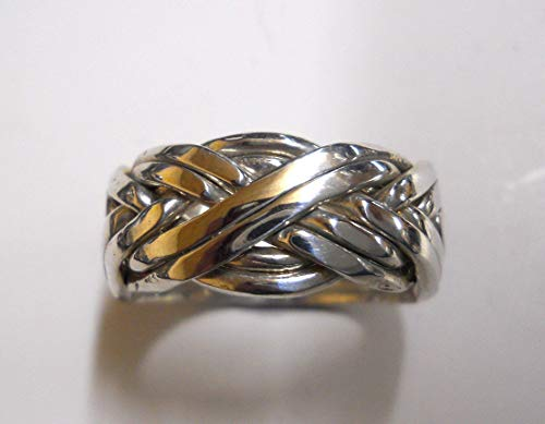 Ladies 8 Band Puzzle Ring, Style 8BAW
