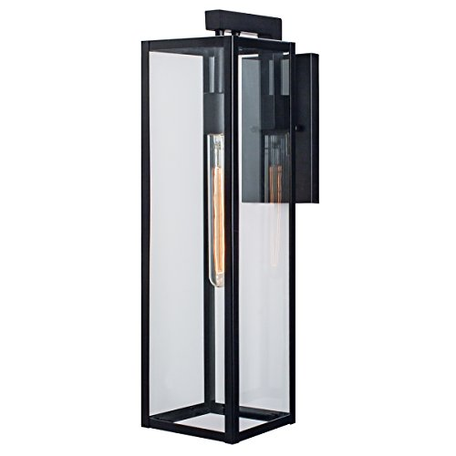 Norwell Lighting 1187-MB-CL Capture Outdoor Sconce (Matte Black w/Clear Glass)