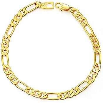 Daimay Vergoldetes Armband Schmuck Herren Rostfreier Stahl Gold Handgelenk Flat Gold Fischgrat Link 5mm Breite Gold