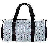 Bolsa de viaje para mujeres y hombres, corazón rojo sobre fondo azul, bolsa de deporte para gimnasio, fin de semana, bolsa de viaje al aire libre