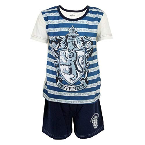 Girls-Harry-Potter-Shorts-Pyjamas-Blue-Ravenclaw-Kids-Nightwear-5-to-12-Years