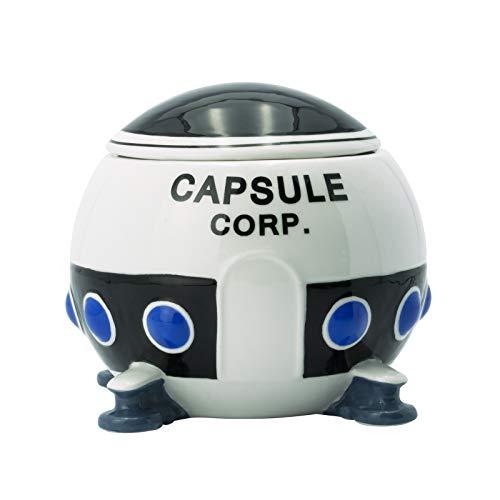 Taza Dragon Ball 3D con tapa Capsule Corp Spaceship 650ml cerámica
