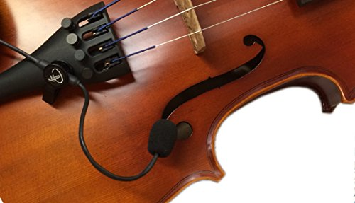The Feather Violin Pickup with Flexible Micro-Gooseneck by Myers Pickups