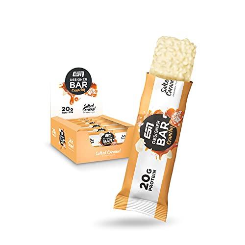 ESN Designer Bar Crunchy Box, Salted Caramel, 12 Proteinriegel