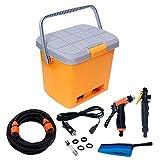 VGMAX Portable Car Washer Machine with Electric Clean Spray Gun, High-Pressure Water Pump, Brush,...