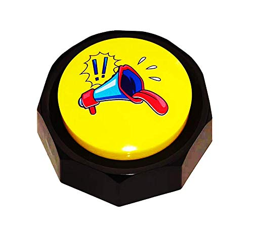 BOSKEY-Horn Button - Air Horn Sound Effect Button, Hip-Hop Rap Talking Button DJ Horn Sound Effect - Noise Maker(Battery Included)