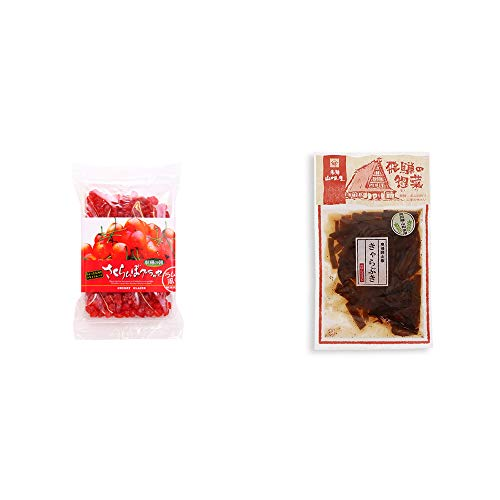 [2点セット] 収穫の朝 さくらんぼグラッセ ラム酒風味(180g)・飛騨山味屋 奥飛騨山椒きゃらぶき(120g)