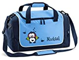 Mein Zwergenland Sporttasche Kinder Praktisch kompakt & robust Coole Sporttasche Eule als Aufdruck...