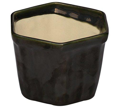 SCONTO - Fioriere - SouvNear 3.1' Herb Planter - POT di ceramica fatta a mano in verde oliva - Finestra fioriera per Fiori / erbe decorative piccoli succulente Fioriere Indoor