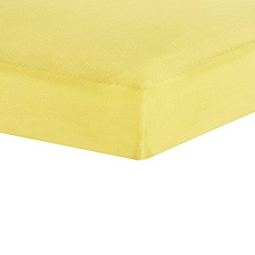 Sábanas bajeras amarillas:60 x 120 cm