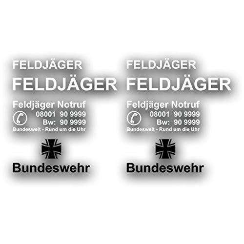 Feldjäger Aufkleber Bundeswehr 2X 60x9cm 2X 90x13cm 2X 63x26cm 2X 66x28cm #A4326