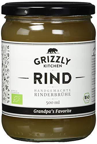 Biologische Rinderbrühe aus Deutschland (6x500ml) • 24 Stunden gekocht • Wertvolle Nährwerte • Bone Broth • Knochenbrühe • Kraftbrühe • Grandpa\'s Favorite
