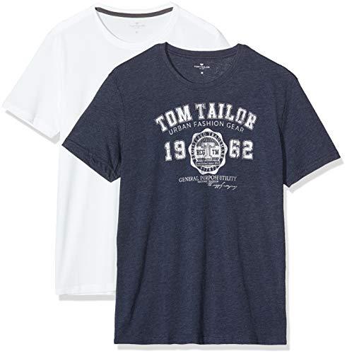 Tom Tailor Basic T-Shirt Camiseta para Hombre